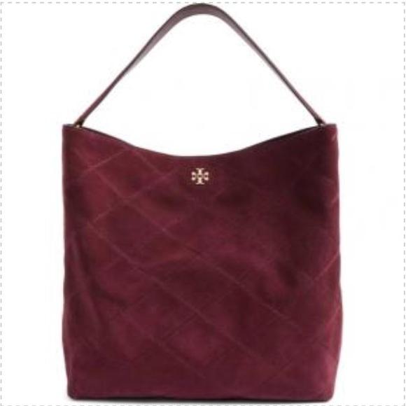 a089494dbd9917 Tory Burch Bags | Nwt Frida Stitched Suede Hobo | Poshmark